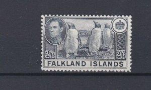 FALKLAND ISLANDS  1938 - 50 S G 160  2/6D SLATE M H CAT £60