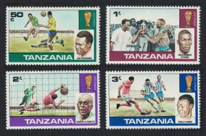 Tanzania World Cup Football Championship 4v SG#228-231 SC#95-98