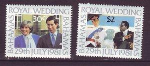 J24188 JLstamps 1981 bahamas set mlh #490-1 royality