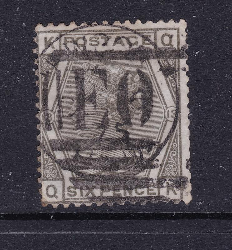 Great Britain a QV 6d grey plate 13