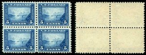HERRICKSTAMP UNITED STATES Sc.# 403 1914 Perf 10 Well Centered Block, 2 NH, 2 LH