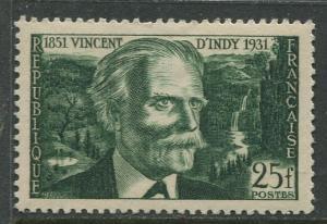France - Scott 648 - General Issue -1951 - MLH -Single 25fr Stamp
