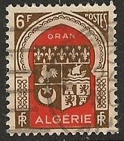 Algeria  used scott cat #  222