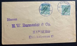1900 Kubub German East Africa Cover To Hamburg Germany