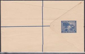 SOUTH AFRICA 4d Kraal registered envelope unused.............................731