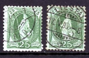 Switzerland 83 83a Used
