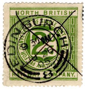 (I.B) North British Railway : Letter Stamp 2d (Edinburgh postal)