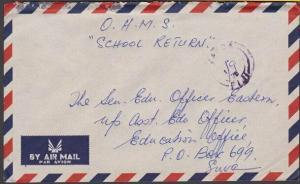 FIJI 1975 OHMS cover VATOA cds in violet - date partly in manuscript.......54514