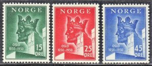 NORWAY SC# 304-06 *MH* 15+25+45o  1950  SEE SCAN