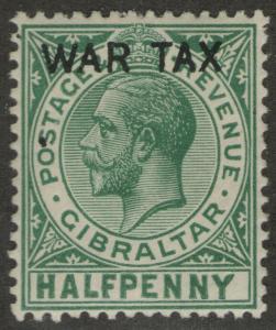 GIBRALTAR MLH Scott # MR1 War Tax (1 Stamp) -1