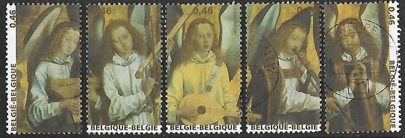 Belgium # 2178a-e - Angels playing Instruments- set - Used - (BL9)