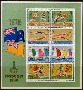 Niue 1980  SC# B42a-h Olympics S/S MNH L189