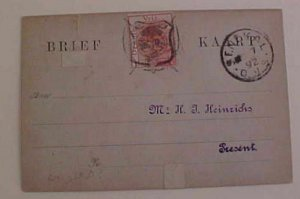 ORANGE FREE STATE 1892 TO ENGLAND FROM GENERAL