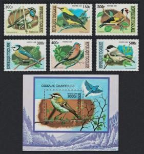 Togo Birds 6v+MS issue 1999 SC#1882A-1882G