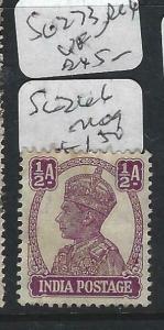 INDIA    (PP2003B)  KGVI  1/2 A   SG 266      MOG
