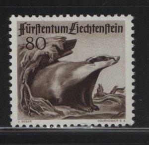 LIECHTENSTEIN 245 Hinged, 1950 Badger