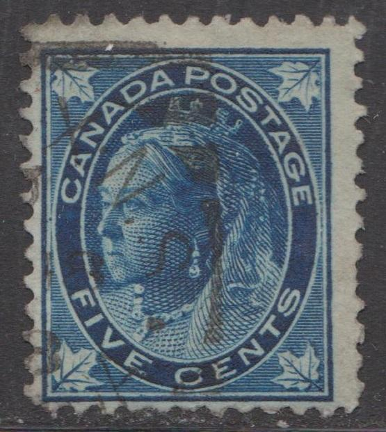 CANADA Scott # 70 - Used - 5 Cent Queen Victoria Leaf Issue
