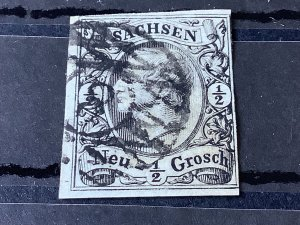 Saxony 1855 Grid Number 8  for Chemnitz  Cancel Stamp 57169