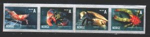 Norway. 2007. 1825-28. Fauna of the sea, crustaceans. MNH.