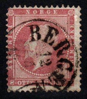 Norway #5 F-VF Used CV $60.00 (X8934)