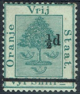 ORANGE FREE STATE 1882 ORANGE TREE 1/2D ON 5/-