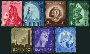 Egypt 438-444, MNH. Mi UAR 2-8. Definitive 1958. Ibn-Tulun's Mosque, Ramses II,