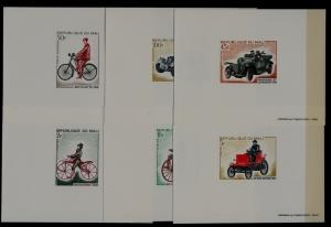 Mali 109-12,C60-61 MNH epruve sheets Bicycle/Cars