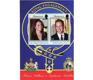 Montserrat - Royal Engagement - 2 Stamp Sheet MOT1104S