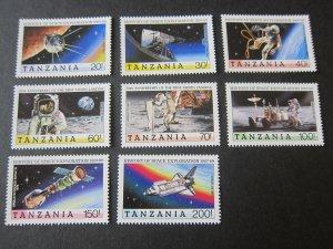 Tanzania 1989 Sc 498-505 space set MNH