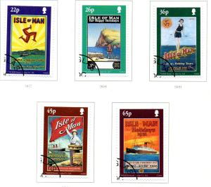 Isle of Man Sc 878-2 2000 Tourism Posters stamp set used