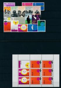 Netherlands Niederlande 1971 Year Set Complete incl. Miniature Sheet MNH