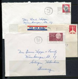 6 COVERS - Scarce 8 cent rate covers to Europe - Not common at all