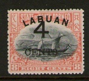 Malaya S. Setts. Labuan 1899 SG 104 MH