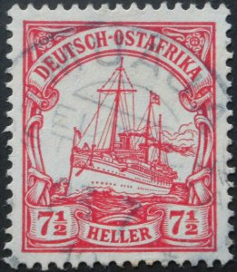 German East Africa 1905 Seven and a Half Heller with MUAJA postmark