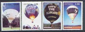 Guyana MNH Set Of Hot Air Balloons Greenpeace 1996