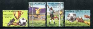 Antigua Barbuda 915-918 MNH 1986 World Cup Soccer Championships Mexico x16812