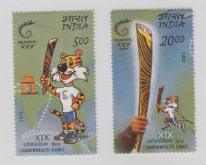 India  2010   # 2430-2431  Commonwealth Games  2v   MNH  62906  C&H