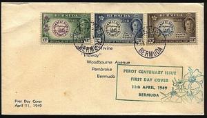 BERMUDA 1949 Stamp Centenary commem FDC...................18570