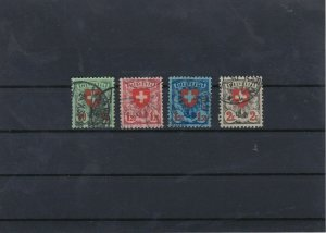 Switzerland 1924 Used Stamps Set CAT£36 Ref: R6748