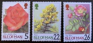 Isle of Man 1999 #796,799-800 MNH. Flowers