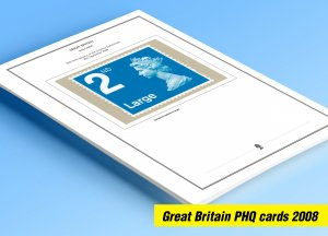 COLOR PRINTED GREAT BRITAIN 2008 PHQ CARDS STAMP ALBUM PAGES (131 illust. pages)
