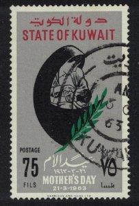 Kuwait Mothers' Day 75 Fils Key Value 1963 Canc SG#183