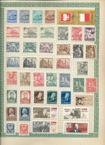 POLAND 1950s/60s Many MH &Used Collection(Appx 250+Items) (Au 15610