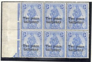 Malta 1925 Early Issue Fine Mint Hinged 2.5d. Surcharged 321584