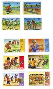 Tokelau #69-72,97-102 two MH sets  (a287)
