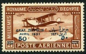 EGYPT-1931 Graf Zeppelin Opts Sg 185-186 light tone spots LMM V32961