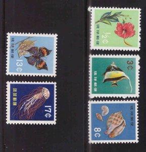 RYUKYU Scott 58-62 MNH** stamp set 1959