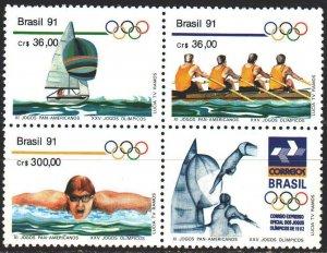 Brazil. 1991. 2404-6. Water sports. MVLH.