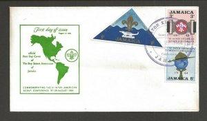 1964 Jamaica Boy Scouts FDC VI Inter-American Conf Sheraton