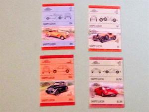 St. Lucia - 739-42, MNH Set (Pairs). Automobiles. SCV - $2.25